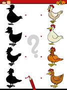 kindergarten shadows task - stock illustration