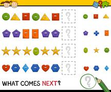 Stock Illustration of preschool pattern game with shapes