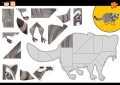 kindergarten jigsaw puzzle task - stock illustration