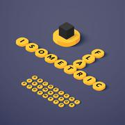 Stock Illustration of Isometric blocks with letters