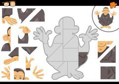 Preschool jigsaw puzzle task Stock Illustration