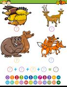 Stock Illustration of mathematical task for preschoolers