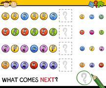 kindergarten pattern task - stock illustration