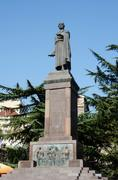 Monument dedicated to famous georgian poet Shota Rustaveli in Tbilisi Kuvituskuvat