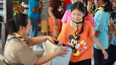 sensation skill events, Scout Camp in primary school Bangkok Thailand - stock footage