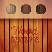 Set of wood texture backgrounds, four colors included Stock Illustration