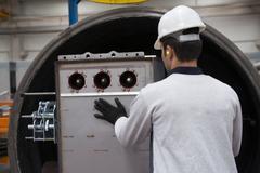 furnace transformer - stock photo