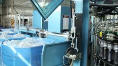 Plant. Rotating machine. Conveyor production Stock Footage