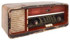 Stock Photo of Old Radio Cutout