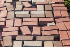 color paving slabs - stock photo