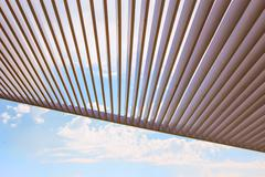 canopy from wooden levels - stock photo
