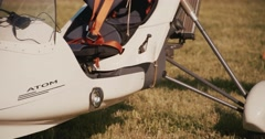 The most popular ultralight airplane Stock Footage