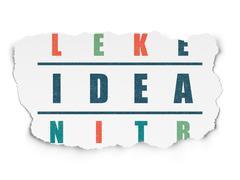 Marketing concept: Idea in Crossword Puzzle - stock illustration