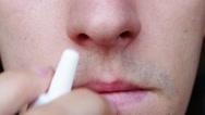 Stock Video Footage of Man using nasal spray