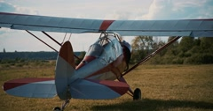 The most popular light aircraft ever built with overhead Stock Footage