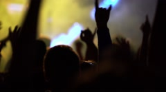 Party crowd at live music festival Stock Footage