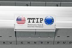 TTIP - Transatlantic Trade and Investment Partnership Stock Photos