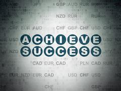 Stock Illustration of Business concept: Achieve Success on Digital Paper background