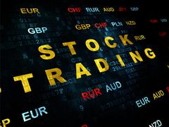 Stock Illustration of Finance concept: Stock Trading on Digital background