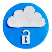 Icon with lock inside Stock Photos