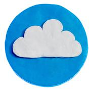 White cloud on blue background - stock photo