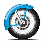 black motorbike wheel - stock illustration