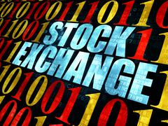 Stock Illustration of Finance concept: Stock Exchange on Digital background