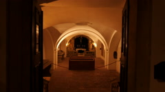 Chapel inside the Powder Tower in Prague Stock Footage