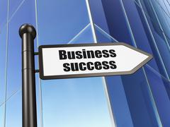 Stock Illustration of Business concept: sign Business Success on Building background