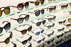 Luxury Sunglasses For Sale In Shop Window Stock Photos