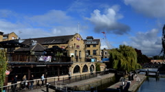 Camden Market. Regent´s Canal. Timelapse Stock Footage