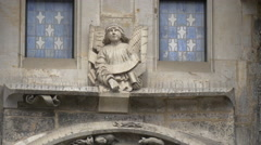 Angel statue on the Old Town Hall in Prague Stock Footage