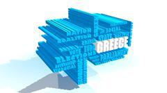 greece relative tags cloud - stock illustration