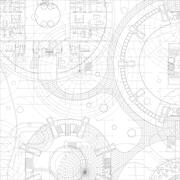 Architectural vector blueprint. - stock illustration
