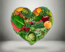Healthy diet choice and heart health concept Stock Illustration