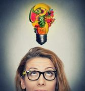 Eating healthy idea and diet tips concept - stock photo