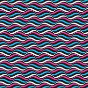 Wavy color pattern - vector repeatable background Stock Illustration
