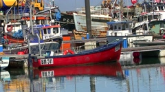 Newlyn Cornwall boats in the harbour - stock footage