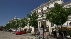 Central Library of Agricultural University Michael Oczapowskiego in Warsaw Stock Footage