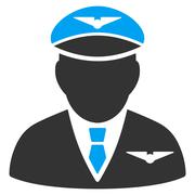Pilot Flat Icon Stock Illustration