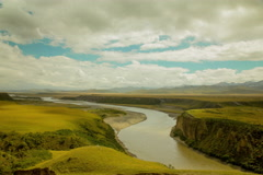 Yellow River valley Stock Footage