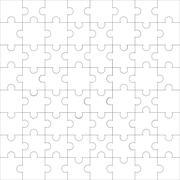 Puzzle pattern line seamless - stock illustration