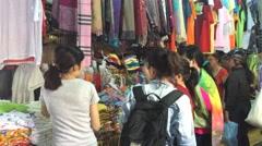 Nha Trang market shopping Stock Footage