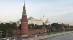 View of the Moscow Kremlin Stock Footage