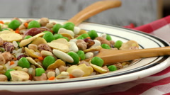 Legumes Delicious and Healthy Natural  Mix Food - stock footage