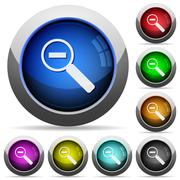 Zoom out button set - stock illustration