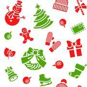Stock Illustration of Christmas holiday seamless background pattern