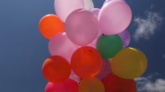 Colourful balloons Stock Footage