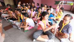 Stock Video Footage of Scout learn usage rope, Scout Camp in primary school Bangkok Thailand