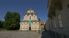 Church of St. Joseph of the Visitationists in Warsaw Stock Footage